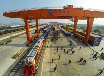 China small commodity hub opens cargo train to Spain
