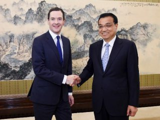 Chinese premier meets British chancellor