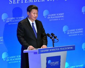 Chinas voice at UN calls for peace, development in world at large