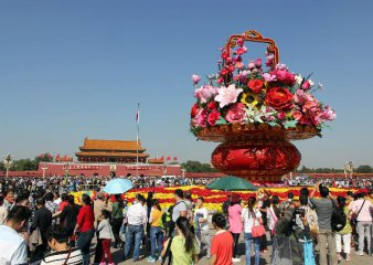 Chinese holiday travelers rise