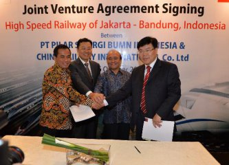 China, Indonesia enter joint venture for high-speed railway project