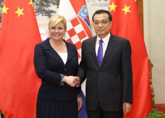 Chinese premier meets president of Croatia on bilateral cooperation
