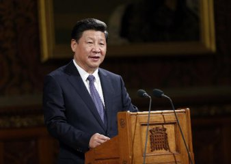 """Chinese president lauds """"community of shared interests"""" with Britain"""