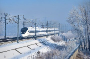 China makes bullet train that runs in extreme cold weather