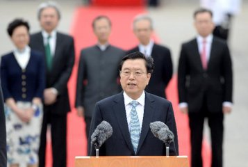 Chinas top legislator calls on HK to seize opportunities created by B&R