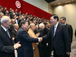Chinas top legislator inspects Hong Kong