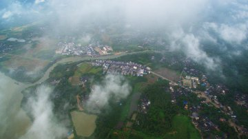 China Hainan Wanquanhe River Scenery