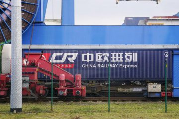 China-Europe freight train imports meat from Germany
