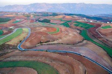 China Yunnan Dongchuan Red Earth Terrace