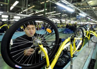 Chinese bicycle manufacturers output up slightly in 2016