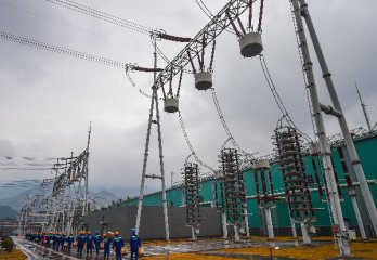 China-funded power transmission line inaugurated in Cambodia