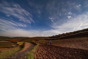 China Yunnan Dongchuan Red Land Scenery