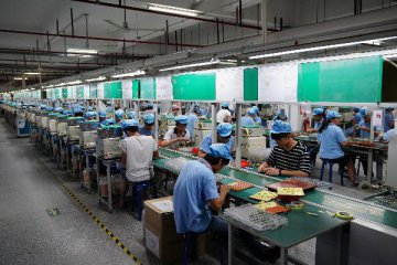 Chinas industrial output picks up speed in H1