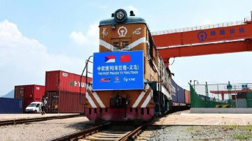 First freight train from Czechs Prague to E Chinas Yiwu
