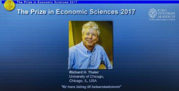 ​Richard H. Thaler wins 2017 Nobel Prize in Economics