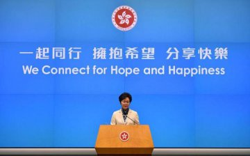 HK chief executive to promote diversified development of financial market