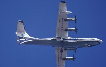 Chinas first domestic large amphibious aircraft makes maiden flight