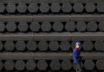 Chinas steel output rises, prices pick up