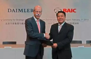 Daimler acquires a 3.93 percent stake in Beijing Electric Vehicle Co., Ltd