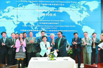 AIIB inks natural gas deal with Chinese firm to improve air quality