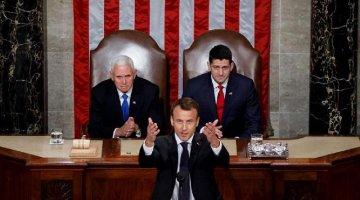 Macron defends multilateralism, globalization in speech to U.S. Congress