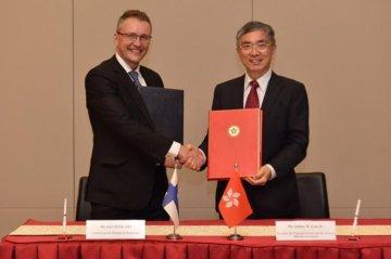 Chinas Hong Kong signs tax pact with Finland