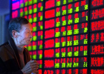 Shanghai Composite Index up 2.91 percent at midday Monday