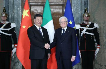 Chinese, Italian presidents agree to promote greater development of ties