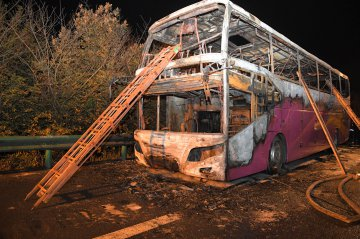 Inflammables cause deadly central China coach fire