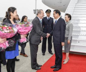 Chinese premier arrives in Brussels for China-EU leaders meeting