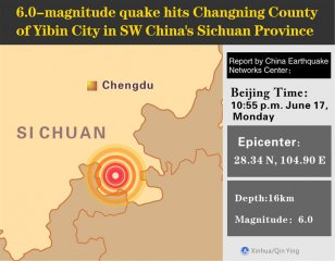 Death toll rises to 11 in SW China earthquake