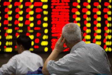 Chinese shares open mixed Monday