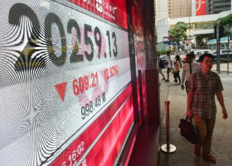 Hong Kong stocks plunge to six-month low by midday