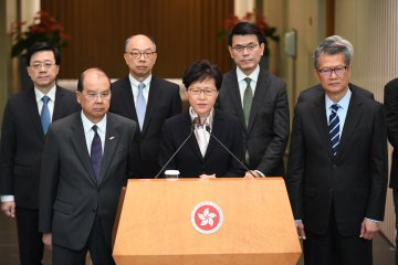 "HKSAR chief executive warns of ""very dangerous situation"""