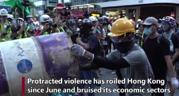 "Violence pales ""Pearl of the Orient"" economic outlook"