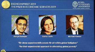3 economists share Nobel Economics Prize for work on poverty