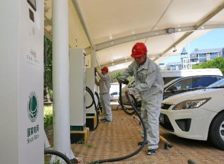 Chinas grid giants up investments in charging piles for NEVs