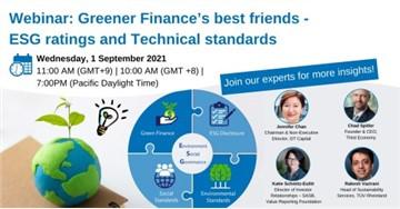 TÜV Rheinlands Webinar: Greener Finance's best friends - ESG ratings and Technical standards
